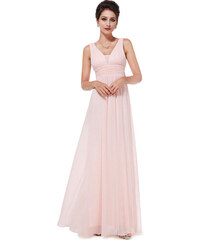 Růžové šaty s velkým výstřihem - Glami.cz 08aa72a84a