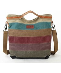 Kabelka Miss Lulu Canvas Stripy 9cf28d93e3