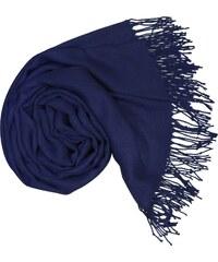 Carlo Romani Dámská modrá pašmína   Dámská modrá šála 763cbc109c