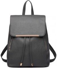 42d9b02a793 Elegantní batoh Miss Lulu tmavě šedý