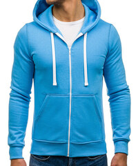 Ombre Clothing Pánska šedo-modrá mikina Primo s assassin creed ... 3369827716c