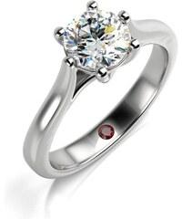 Eppi Platinový zásnubný prsteň s diamantom a rubínom Idony 6570cc174a9