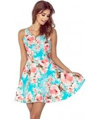 20d82674a085 Dámské elegantní květinové šaty FLORALS bez rukávu Morimia 014-1