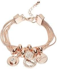 17cd15c746 GUESS náramok Rose Gold-Tone Charm Bracelet