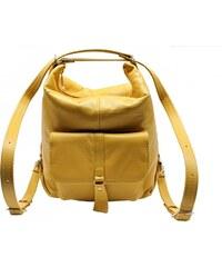 Sikora Dámska kožená kabelka - batôžtek Ela žltá f1d85baf67d