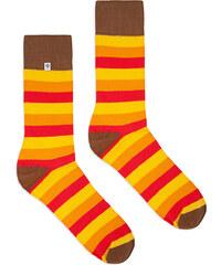 a7d3c5bdfb0 4LCK Žluto-oranžové ponožky Stripes