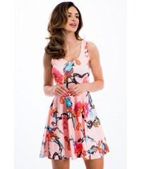 914b62e7e5c Růžové letní krátké šaty se vzorem - Glami.cz