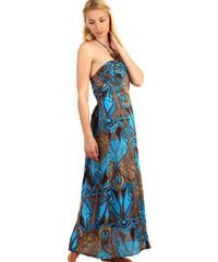 Glara Dlouhé vzorované šaty se zavazováním za krk 8f39acfa07