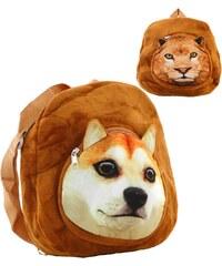 Taška dětský batůžek 30cm s hlavičkou zvířátka na zip 4 druhy Mix hračky 9a0e230c96