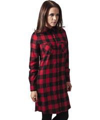 b66913250cc8 Dámske šaty URBAN CLASSICS Ladies Checked Flanell Shirt Dress blk red