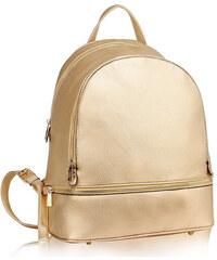 687003d4bf7 L S Fashion Batoh Gold Backpack Rucksack School Bag LS00171 GOLD