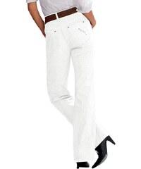 Lady Jeans mit streckenden Ziernähte an den Seiten