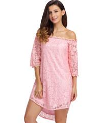 Růžové elegantní šaty z obchodu KatyShop.cz - Glami.cz 73470638d0