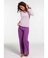 H.I.S Gestreifter Pyjama mit leicht ausgestelltem Hosenbein