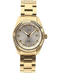 Dámské zlacené ocelové moderní náramkové hodinky JVD JC579.2 ac0f60f1d4