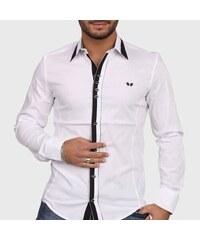 Bílá Carisma moderní košile pánská 19bfd7aebc