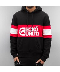 Černá mikina s červeným pruhem a bílým nápisem pro muže Ecko Unltd. Flagship f9397b8349