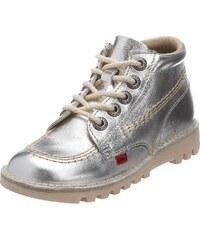 Kickers Kick Hi J, Bottines Fille - argent - Silver/Natural/Natural,
