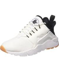 Nike WMNS Air Huarache Run Ultra, Les Formateurs Femme, Blanc Cassé (White/Black/Gum Yellow/White), 41 EU