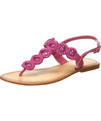 Femme, Sandales, Sandals with Beads, Rose (Salmon), 39Tantra