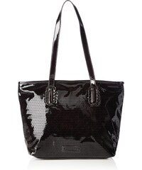 NESSA Hobo Bag 1210142-042 Damen Schultertaschen 35x28x16 cm (B x H x T), Schwarz (black metallic 042) Tamaris