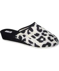 Dámské domácí pantofle Bokap 014 černobílá a01533ada7