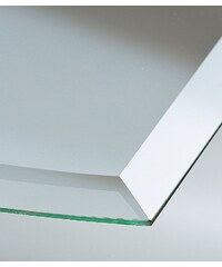 SCANDIA Glasbodenplatte »Segmentbogen«, 100x100 cm, transparent, zum Funkenschutz