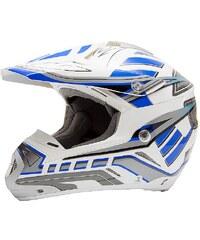 Motocross Helm, Saiko, für Moped, Roller und Motorradfahrer, blau, unisex