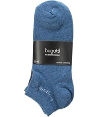 Sada 3 párů dámských nízkých ponožek BUGATTI - 6765A Denim Melange 434 3367980019