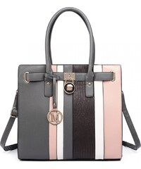 4dc7daf4c1 Luxusní kabelka Miss Lulu Snake Stripe Grey Pink. 999 Kč
