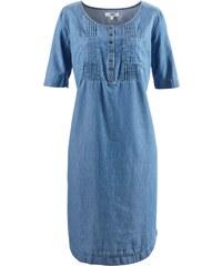 0946843977d bonprix Džínové šaty s krátkým rukávem