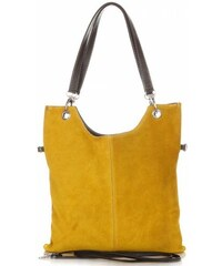 Genuine Leather Univerzální Kožené kabelky žlutá 64a63ab1443