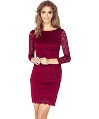 252fc6a67a7 Dámske šaty Numoco 145-2 čipkové bordové