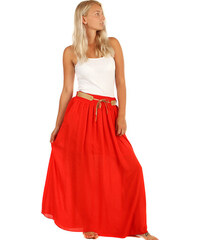 7e40be4b35b TopMode Dámská romantická maxi sukně s kapsami (červená