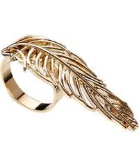 ASOS Filigree Long Leaf Ring - Gold