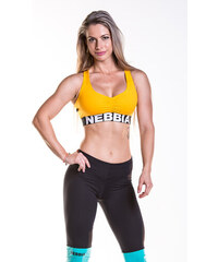 b7bf23098e2f Sportovní podprsenka NEBBIA Supplex Mini (žlutá)