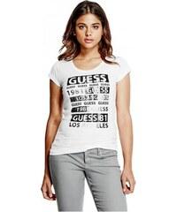 GUESS tričko Ember Wild Logo Tee biele fbca226ecd1