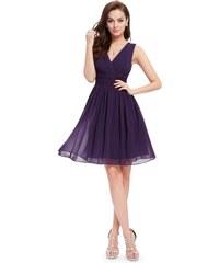 1ae14431c79 Ever Pretty letní šaty krátké tmavě fialové 3989