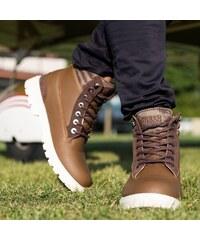 Zimná obuv URBAN CLASSICS WINTER BOOTS BROWN DARK cb9ee334285