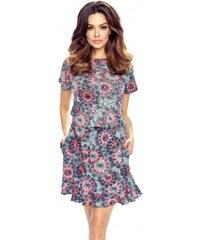 d898b9a68fbd Dámské šaty Bergamo 63-01 barevné slunečnice XXL