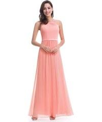 5cbd1d35a080 Ever Pretty plesové šaty s jemnou krajkou meruňkové 8742