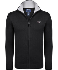 Černý luxusní svetr na zip od Gant 3f91b07217