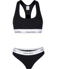 dd3d7e60da Černý set kalhotek a podprsenky Calvin Klein