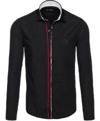 d55cacff569 Černá pánská elegantní košile s dlouhým rukávem Bolf 1769