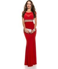 Koucla Plesové šaty s kamienkovým pásom 90ce18d0c6
