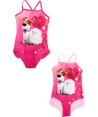 Setino Dívčí plavky jednodílné Mazlíčci - Světle růžová 104 cm Světle růžová  104 cm e1373fb948