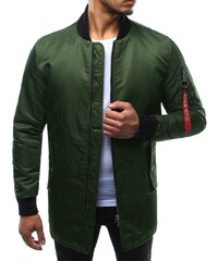 Dstreet Pánska zelená predĺžená bunda tbb541745 b84da25f78e