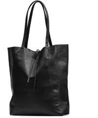 Blaire Kožená shopper kabelka Solange černá fd16e3cf5d6
