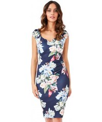 cb5fca22cb8f Dámské šaty CityGoddess květinové Chloe tmavě modré CityGoddess DR1261