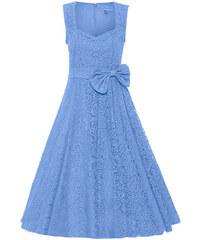 d674bc28b69 LINDY BOP Dámské retro šaty Grace Skyl Blue krajka